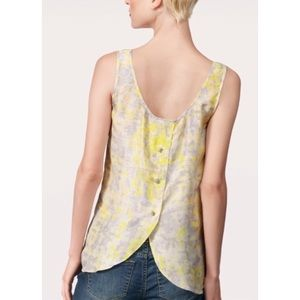 Cabi #811 Whisper Silk Yellow Tank Top Blouse